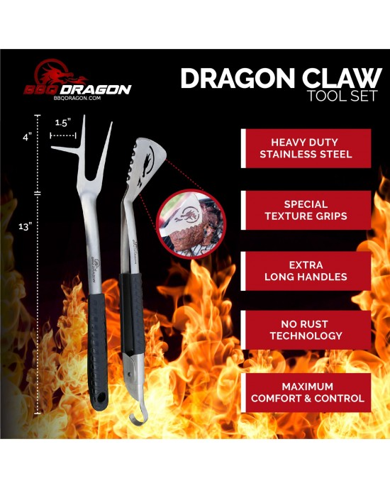 BBQ Dragon Dragons Claw Tool Set 2 Piece