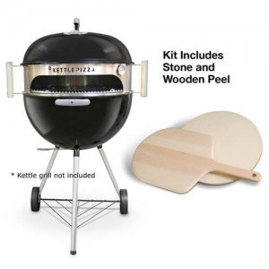 KettlePizza Oven Deluxe Kit With Wooden Peel for 47 & 57cm Grills