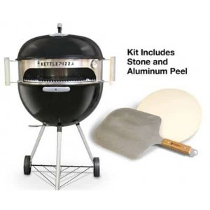 KettlePizza Oven Deluxe Kit With Aluminium Peel for 47 & 57cm Grills