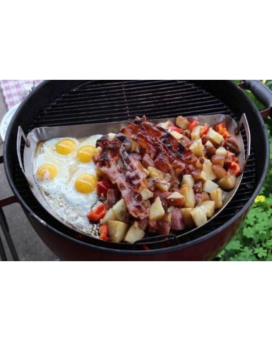 SnS Drip 'N Griddle Pan Deluxe - Includes SS Roasting Rack