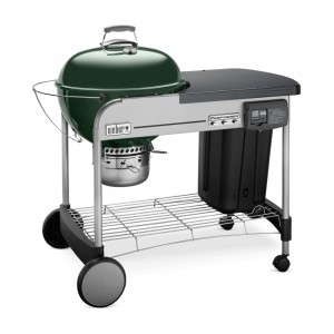 "Weber Performer Deluxe 57cm (22.5"") Charcoal Grill in Green - 15507001"